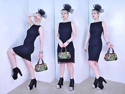 Suzi West - Holly Gordon's Pro Wardrobe Fascinator Hat, Holly Gordon's Pro Wardrobe Bracelets, Living Jewels By Insect Art Moonrise Kingdom Beetle Earrings, My Michelle Shift Dress, Caribbean Joe Tropical Purse, Speed Limit 98 Chrome Tipped Lita Boots - 04 June 2016