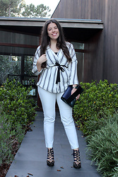 Joana Sá - H&M Kimono, Zara Top, Nixon Watch, Zara Bag, Zara Pants, Zara Shoes - White