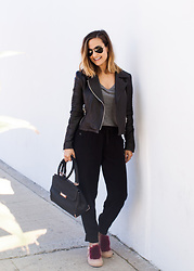 Camille -  - Leather and Joggers