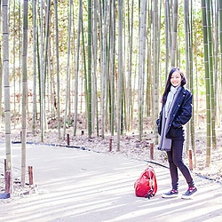 Ren Rong - H&M Coat, Uniqlo Ultra Stretch Jeans, Spurr Shoes - Bamboo Forest