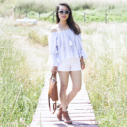 Toshiko S. -  - Off Shoulder in Wine Country