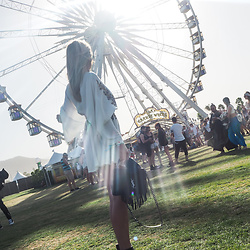 Iam Chouquette - Free People Dress, Saint Laurent Bag, Free People Double Buckle Belt - COACHELLA