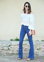 Rebeca LookForTime - Lightinthebox Blouse - WHITE BOHO