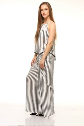 Nidhi.s - Shiflee Cami Top, Shiflee Drapy Skirt - Trending in stripes...shop the look @shiflee
