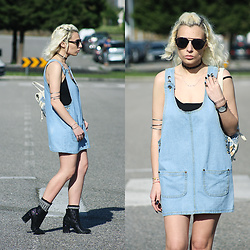 Cátia Gonçalves - Chicnova Denim Dress, Bershka Glitter Boots - Whatsoever I've fought off Became my life