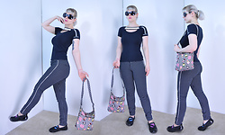 Suzi West - Vision Works Sunglasses, Armani Exchange Black And White Top, Old Navy Cropped Diva Pant, Harajuku Lovers Purse, Cherokee Sporty Flats - 06 June 2016