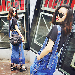 Shelly LIU - Alexander Wang Bag, Alexander Wang Shoes - DENIM DRESS