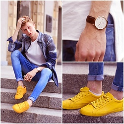 Adrian Kamiński - Choies Shirt, Daniel Wellington Watch, Bershka Shoes - JEANS OUTFIT