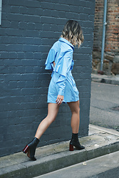 Leanne Pak - The Fifth Label Playsuit, Topshop Boots - INTO THE BLUE