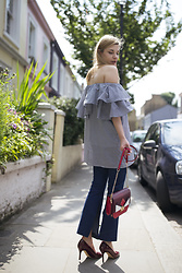 Karolina Gespucci - Floating Style Top, Floating Style Jeans, Kate Spade Heels - Off the Shoulder Top