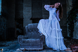Aevoulette Benssalconia - Handmade White Dress, Novecento Metalic Shoes - A Ghost Story