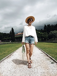 Valeriya Sytnik - Tfnclondon Blouse, Zara Shoes, Lack Of Color Hat - The moment before rain