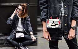 Laugh of Artist - Urban Outfitters Pants, Asos Jacket, Asos Top, Karl Lagerfeld Bag - Cuir & Denim