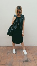 Ema Roxanne - Pimkie Dress, Pimkie Vest, H&M Bag - Addicted to black