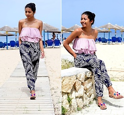 Konstantina Antoniadou - Missguided Ruffle Top - Blogged! What to wear to a seaside dinner