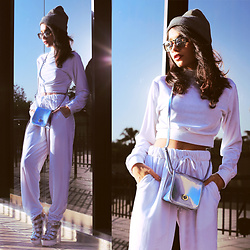 Alana Ruas - Chilli Beans Usa Bag, Chilli Beans Usa Sunglasses, Alana Ruas Concept Top, Alana Ruas Concept Pants, La Moda Uk Sandals - Let's GLOW