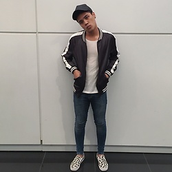 Sham S. - Topman Spray Ons, Vans Slip Ons, Zara Bomber, H&M Low Cut Tee, Cotton On Cap - My Mama Don't Like You