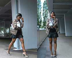 Wallace Yolicia - Zara Stiletto Laced Up Heels, Vero Moda Vmdrama Butter A Line Black Skirt, Missguided Camo Utility Jacket Khaki, Boohoo Sophia Turtle Neck Ribbed Top, Lauren Merkin Leather Pouch Clutch W/Tassel - WATCH OUT ! MILITARY PRINT IS BACK