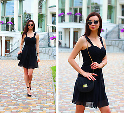 Anna Mour ♥ - Ever Pretty Black Sweetheart Bridesmaid Dress - LBD