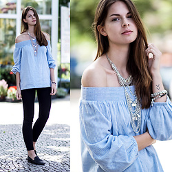 Jacky -  - Baby Blue Off-The-Shoulder