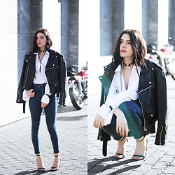 CLAUDIA Holynights - Sheinside Jeans, Daniel Wellington Watch, Soufeel Rings - White | denim | leather