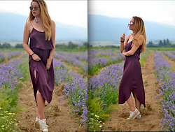 Martina Manolcheva - H&M Dress, H&M Choker - Lavender Fields
