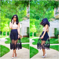 Zunera Serena -  - Black Sheer Skirt