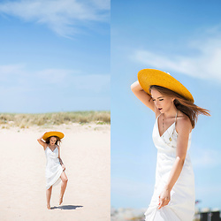 Silver Girl - Mango Stone Necklace, Asos Maxi Dress, Uterque Sun Hat - TROPICAL RESORT