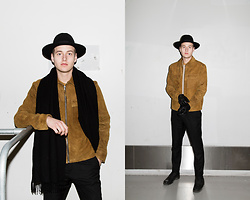 Patrick Pankalla - Acne Studios Canada Scarf, H&M Studio Jacket, Tiger Of Sweden Trousers, Diesel Leather Boots, H&M Studio T Shirts, H&M Fedora Hat - H&M Studio SS16