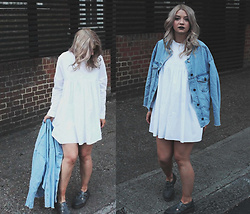 Joey Taylor - Zara Playsuit, Topshop Denim Jacket, Dr Martens Dm Shoes - ZARA PLAYSUIT