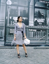 B @Style Voyage - Diane Von Furstenberg Gingham Dress, Topshop Black High Heels - Monochrome Gingham