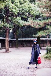 Ren Rong - Zara Knit Coat, Topshop Bodychain, Cndirect Dress, Dressgal Leggings, Spurr Shoes - Meiji-jingu