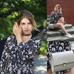 Monika Stegienko - H&M Overalls, Bag From Italy, Chokers Made By Myself - Flower power