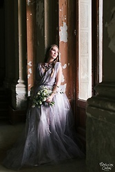 Mary Ryabich - Zara Necklace, Anna Mores Wedding Dress - Lavender Wedding Dress
