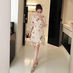 Parker Zhang - Rabbit Butterfly Print Dress - Butterfly print dress