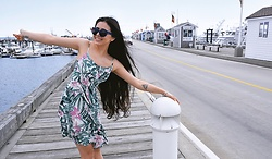 Arita Muhaxheri - Old Navy Dress, Prada Sunglasses - Provincetown-Cape Cod: Massachusetts