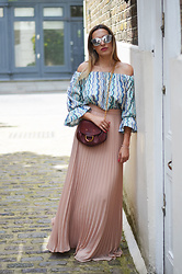 Camila Carril -  - Off The Shoulders + Long Skirt