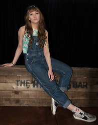 Charli E. - Rokit Dungarees, Vintage Adidas Top, Topshop Slip Ons, Cat Socks - Miserable as Sin