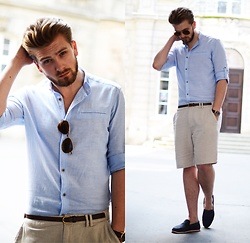 Lukasz Podlinski - Zerouv Sunglasses, Top Secret Shirt, Kari Shoes - Safari style