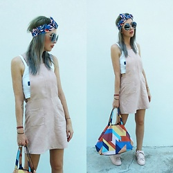 Joanna L - Primark Dress, Parfois Colorful Bag, Stradivarius Sneakers - Pink obsession