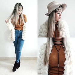 Thais Chung - Asos Hat, Nasty Gal Faux Fur Coat, Forever 21 Knitted Top, Forever 21 Leather Choker, Forever 21 Skinny Jeans, Santa Lolla Fringed Boots - THAT'S NOT A FAREWELL