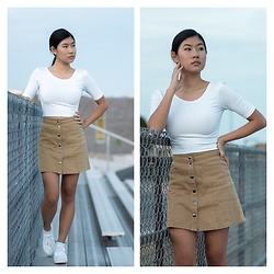 Jenny Ruan - Aritzia Shirt, Bdg Skirt - Bleachers at sundown™