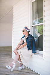 Olivia Hargrove - Jeffrey Campbell Shoes Fabou Platform, Zara Knit Dress, Levi's® Vintage Levi's Jacket, Vidakush Kashmir Necklace, Komono Lulu Clear - LET FREEDOM RING