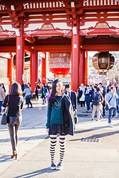 Ren Rong - H&M Coat, H&M Merino Sweater, Topshop Bodychain, We Love Colors Thigh Highs, Spurr Shoes - Stripes For Asakusa