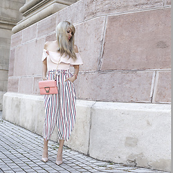 Festy In Style - Cooci, Zara Pants, Zara Heels - COCCINELLE - Pink cotton candy vibes