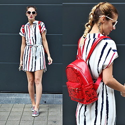 Ruxandra Ioana - Zaful Dress, Cocorose London Shoes, Zaful Backpack - 4th of July