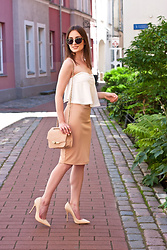 Anna Puzova - Cndirect Set, Kazar Heels, New Look Bag, Christian Dior Shades - Lines and Curves