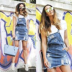 Manuella Lupascu - Romwe Jumpsuit, Marc Jacobs Sneakers, Michael Kors Bag - Jumping in my new Denim jumpsuit