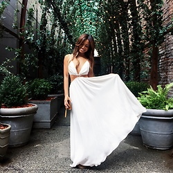 Jessi Malay - Zimmermann Chroma Cut Out Maxi Dress - In the Hamptons with REVOLVE - Part I