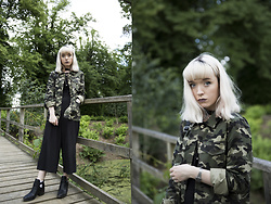 Peaches - New Look Camouflage Jacket, New Look Culottes - Camouflage Jacket
